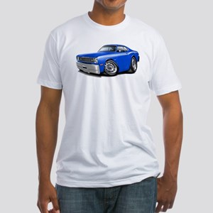 Duster Blue-White Car Fitted T-Shirt
