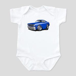 Duster Blue-White Car Infant Bodysuit
