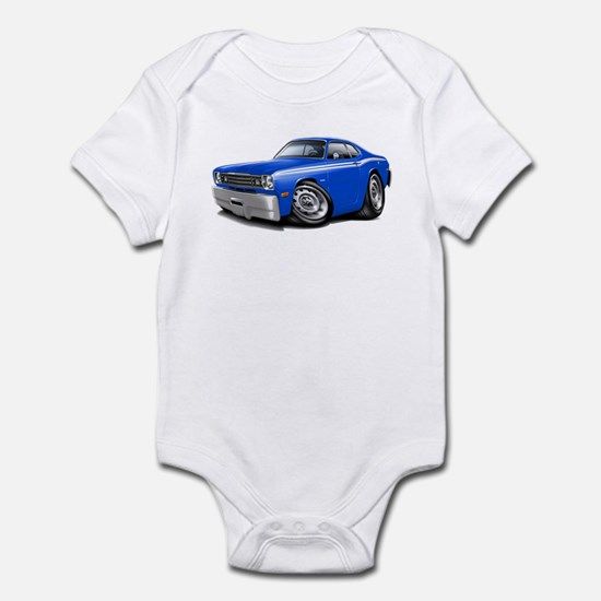 Duster Blue-White Car Infant Bodysuit