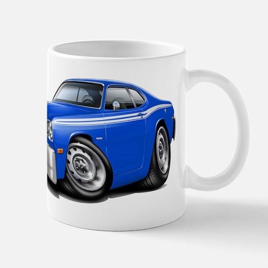 Duster Blue-White Car Mug