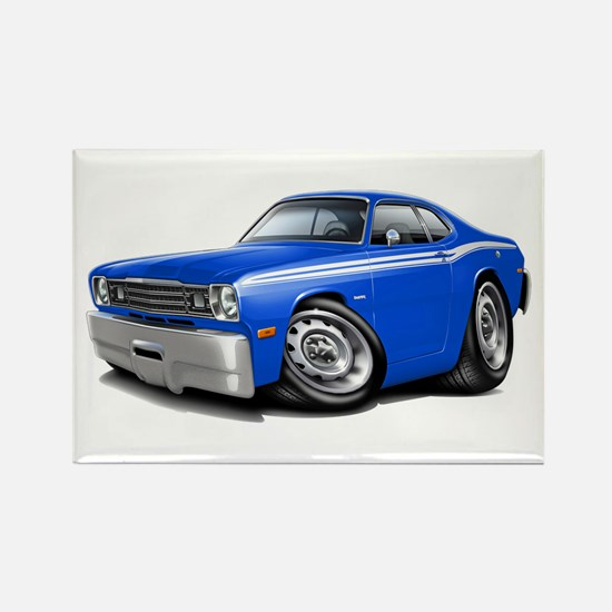 Duster Blue-White Car Rectangle Magnet