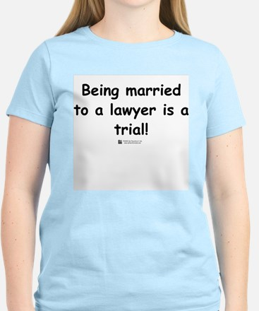 Married to a lawyer -  Women's Pink T-Shirt