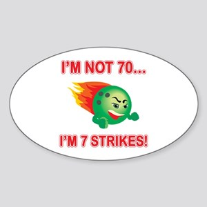 70th Bday Strikes Sticker (Oval)