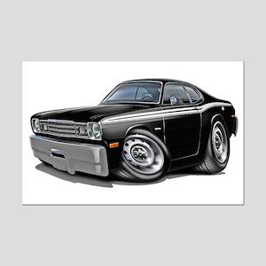Duster Black-White Car Mini Poster Print