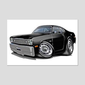1970-74 Duster Black Car Mini Poster Print