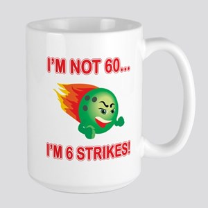 60th Bday Strikes Large Mug