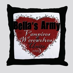 Bella's Army Throw Pillow