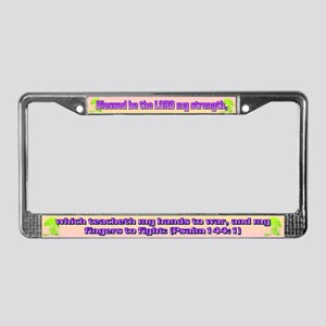 Psalm 144:1 License Plate Frame