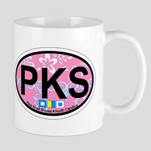 Pine Knoll Shores NC - Oval Design Mug