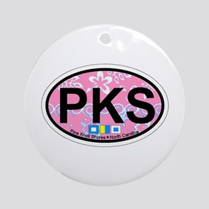 Pine Knoll Shores NC - Oval Design Ornament (Round