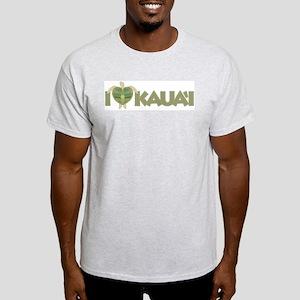 I Love Kaua'i Light T-Shirt