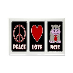Peace Love NCIS Rectangle Magnet (10 pack)