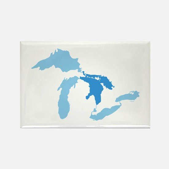 Lake Huron Rectangle Magnet