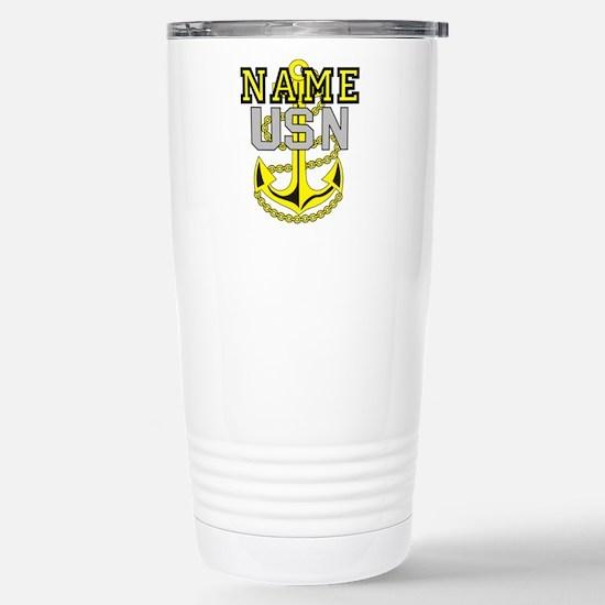 Custom Anchor #4 Stainless Steel Travel Mug