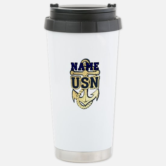 Custom Anchor #5 Stainless Steel Travel Mug