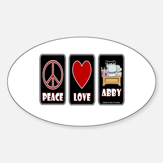 Peace Love Abby Sticker (Oval)