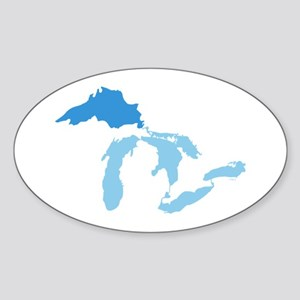 Lake Superior Sticker (Oval)