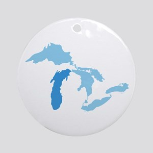 Lake Michigan Ornament (Round)