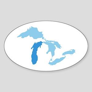 Lake Michigan Sticker (Oval)