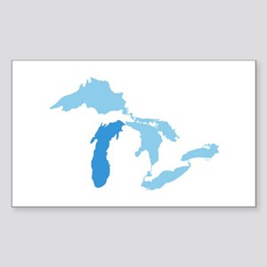 Lake Michigan Sticker (Rectangle)
