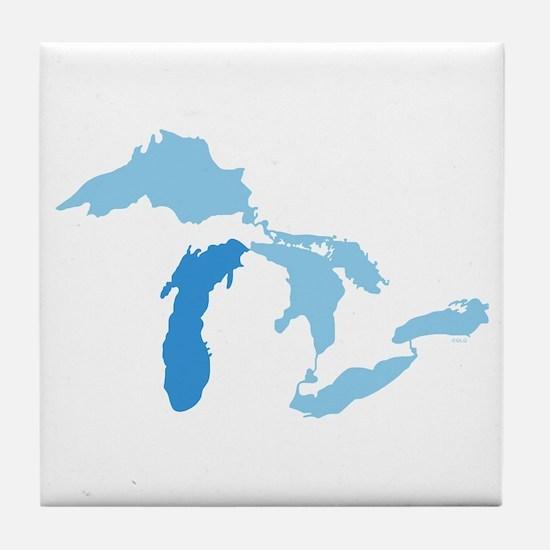 Lake Michigan Tile Coaster