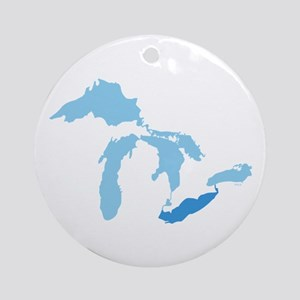 Lake Erie Ornament (Round)