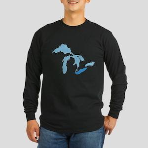 Lake Erie Long Sleeve Dark T-Shirt