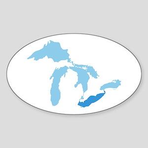 Lake Erie Sticker (Oval)