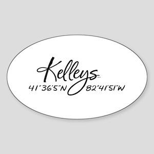 Kelleys Island Sticker (Oval)