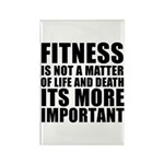 Fitness is not a matter... Rectangle Magnet
