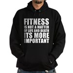 Fitness is not a matter... Hoodie (dark)