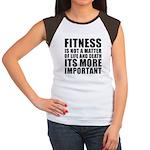 Fitness is not a matter... Women's Cap Sleeve T-Sh