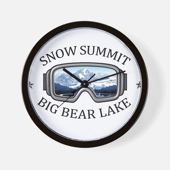 Snow Summit - Big Bear Lake - Califor Wall Clock