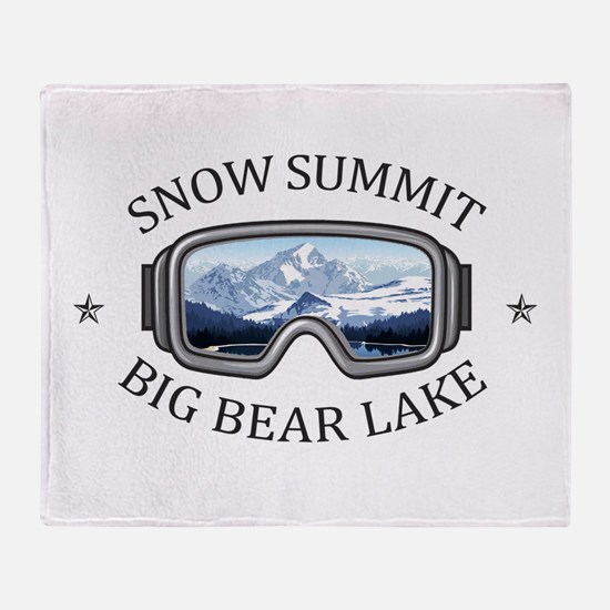 Snow Summit - Big Bear Lake - Cali Throw Blanket