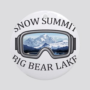 Snow Summit - Big Bear Lake - Cal Round Ornament