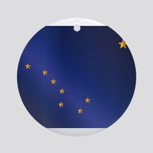 Flag of Alaska Gloss Round Ornament