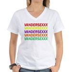 Club Vandersexxx Women's V-Neck T-Shirt