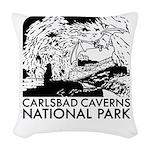 Carlsbad Caverns National Park Woven Throw Pillow