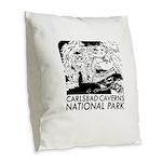 Carlsbad Caverns National Park Burlap Throw Pillow