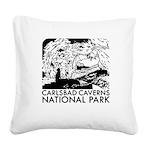 Carlsbad Caverns National Park Square Canvas Pillo