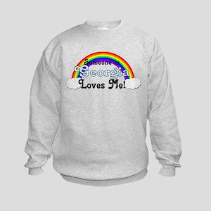 Someone in GA Loves Me Kids Sweatshirt