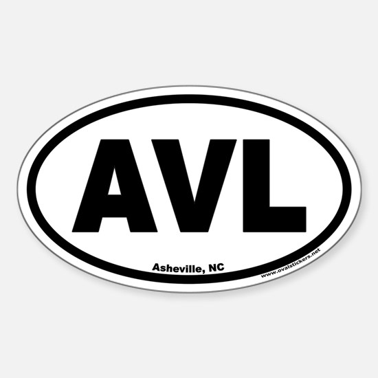 Asheville NC AVL Euro Oval Decal