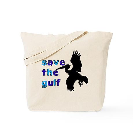 save the gulf - bird (blue) Tote Bag