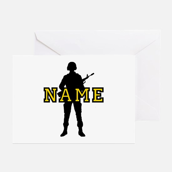 Army Custom #5 Greeting Cards (Pk of 10)