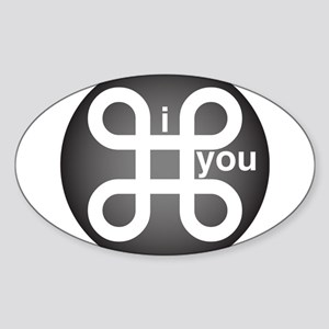 i Command you Sticker (Oval)