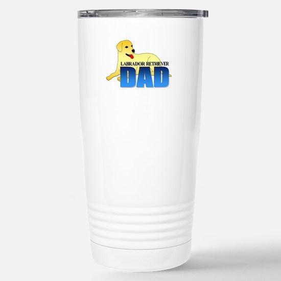 Yellow Labrador Retriever Dad Stainless Steel Trav