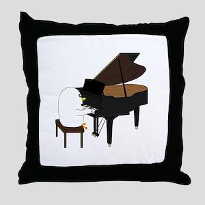 Concert Pianist Throw Pillow