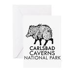 Carlsbad Caverns National Park Javelina Greeting C