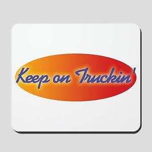 Retro Keep On Truckin Mousepad