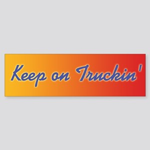 Retro Keep On Truckin Sticker (Bumper)
